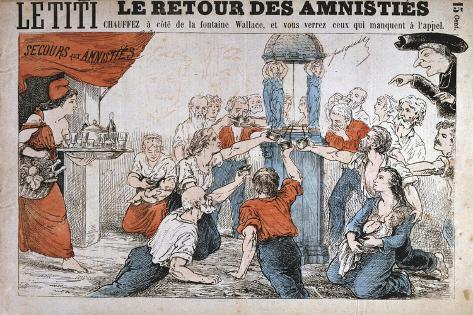 Cartoon, Paris Commune, 1871 Giclee Print