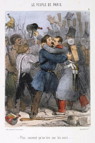 Cartoon Relating to the Paris Commune, 1870S Giclee Print