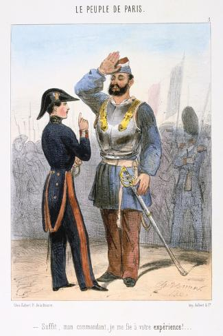 Cartoon Relating to the Paris Commune, 1870S Giclee Print