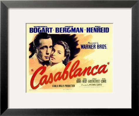Casablanca, 1942 Impressão giclée emoldurada