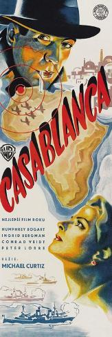 Casablanca, Czech Movie Poster, 1942 Konstprint