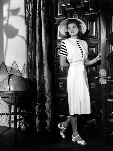 Casablanca, Ingrid Bergman Wearing a Jumper Dress Designed by Orry-Kelly, 1942 Photo