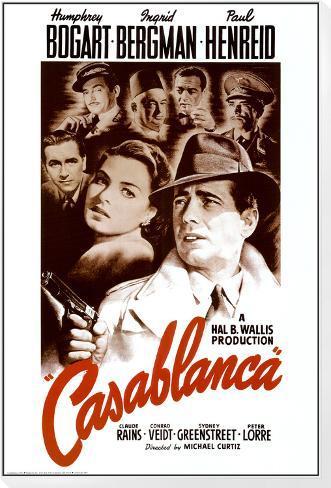 Casablanca Lámina montada y enmarcada