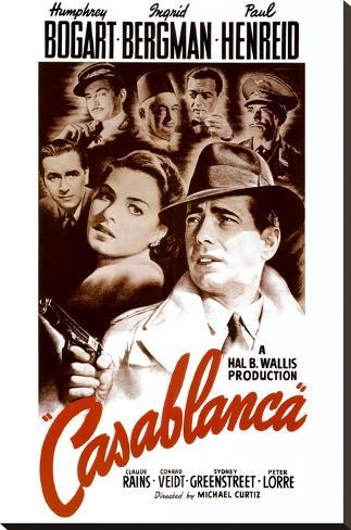 Casablanca Impressão em tela esticada