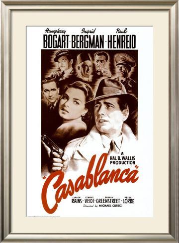 Casablanca Pôster emoldurado