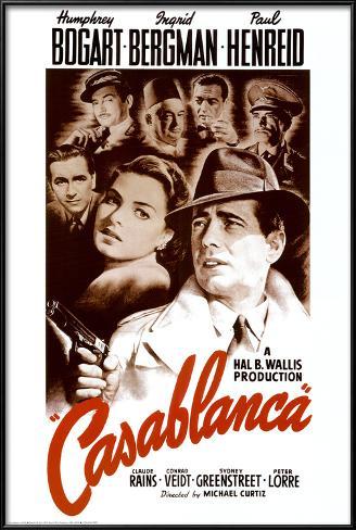 Casablanca Pôster com moldura laminada