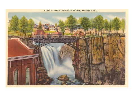 Cascate Passaic, Paterson, New Jersey Stampa artistica