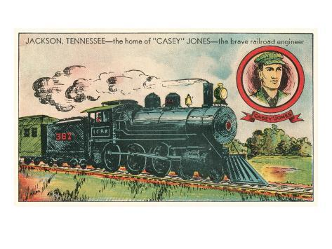 Casey Jones, Jackson, Tennessee Art Print