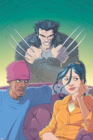 Jubilee No.6 Cover: Jubilee and Wolverine Poster