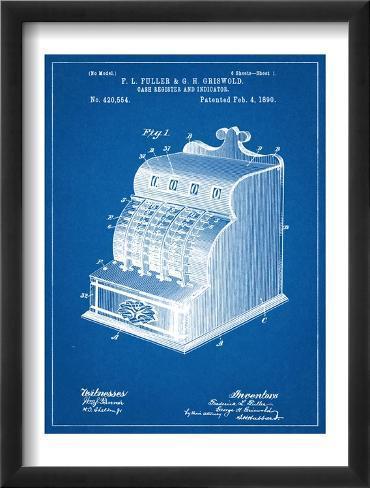 Cash Register Patent Framed Art Print
