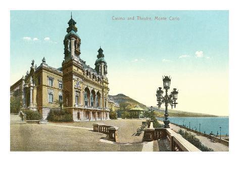 Casino and Theater, Monte Carlo Art Print