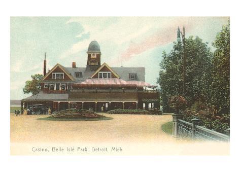 Casino, Belle Isle, Detroit, Michigan Art Print