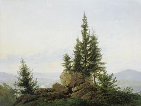 Blick in Das Tal Der Elbe, 1807 Giclee Print