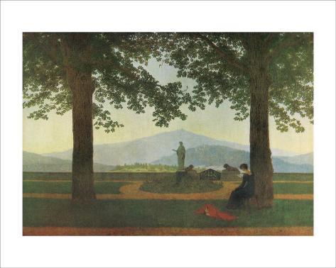 Garden Terrace Framed Giclee Print