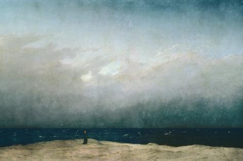 Caspar David Friedrich Monk by Sea 1809 Vintage Print