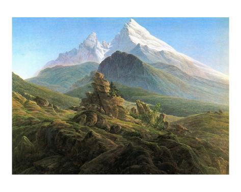 Mountain Majesty Posters By Caspar David Friedrich