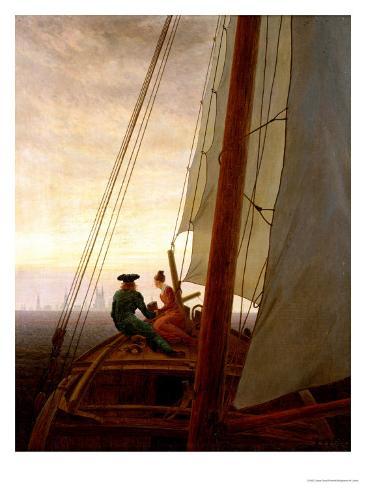On Board a Sailing Ship, 1819 Giclee Print