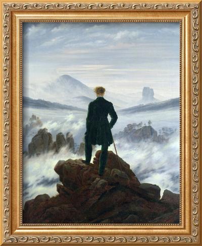 The Wanderer Above the Sea of Fog, 1818 Framed Giclee Print