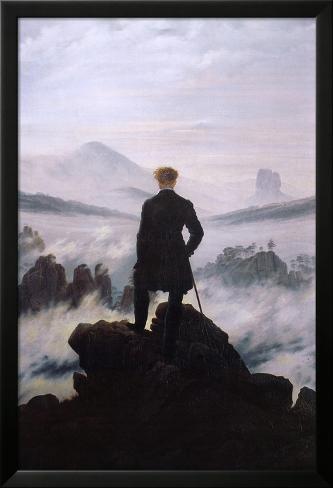 Wanderer Above the Sea of Fog Lamina Framed Poster