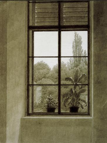 Window with View of a Park Giclee Print