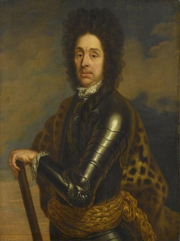 Portrait of Menno Van Coehoorn, General in the Artillery and Fortifications Engineer Art Print