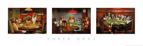 Poker Dogs Art Print