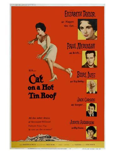 Cat on a Hot Tin Roof, 1958 Impressão artística