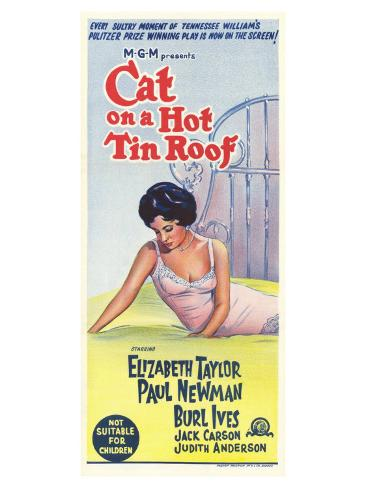 Cat on a Hot Tin Roof, 1958 Art Print