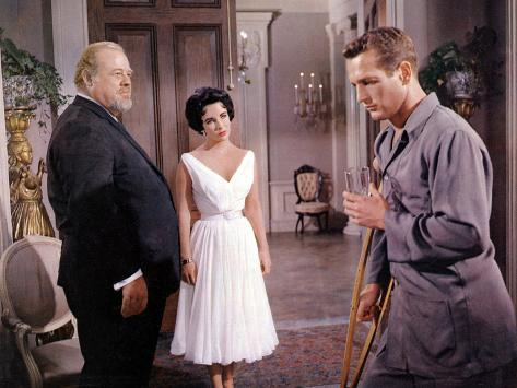 Cat on a Hot Tin Roof, Burl Ives, Elizabeth Taylor, Paul Newman, 1958 Photo