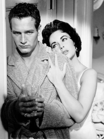 Cat on a Hot Tin Roof, Paul Newman, Elizabeth Taylor, 1958 写真