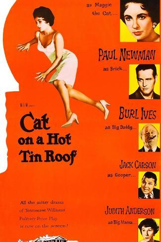 Cat on a Hot Tin Roof Art Print