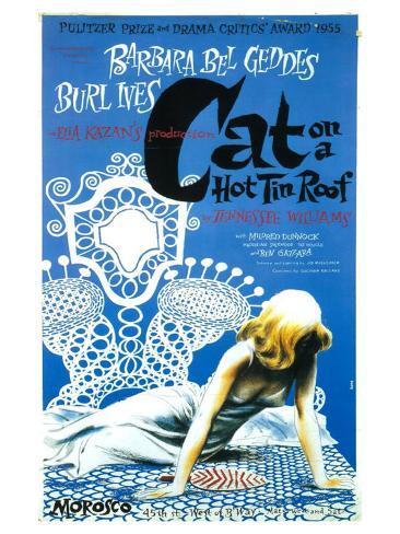 Cat On A Hot Tin Roof Art Print
