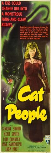 Cat People, Simone Simon, 1942 Art Print