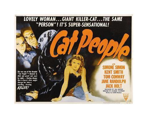 Cat People Giclee Print