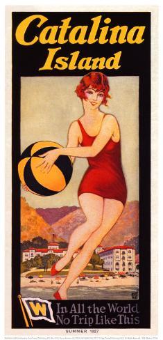 Catalina, Beach Ball, 1927 Art Print