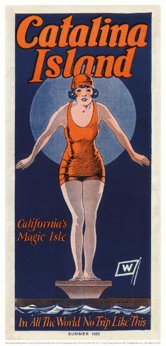 Catalina, Diver, 1925 Art Print