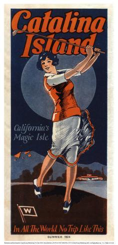 Catalina, Golfer, 1924 Art Print