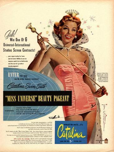 Catalina Womens Swimming Fashion, USA, 1950 Stampa giclée