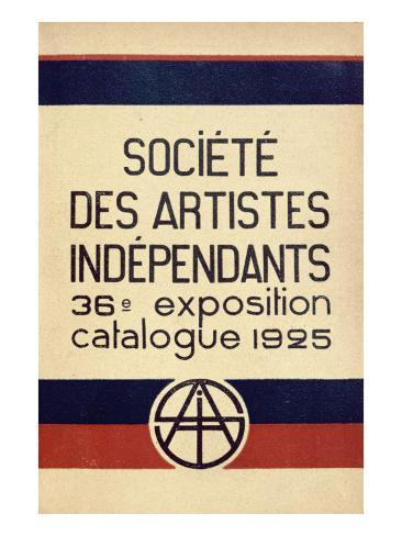 Catalogue for the 36th Salon Des Independants in Paris, 1925 Giclee Print