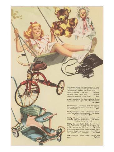 Catalogue Page of Toys, Swing, Trike Art Print