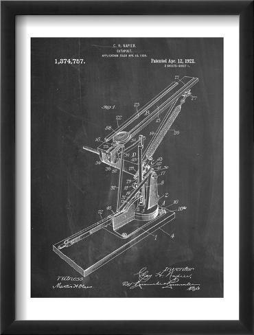 Catapult Patent 1921 Framed Art Print