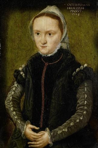 Portrait of a Woman, Probably a Self- Portrait Art Print