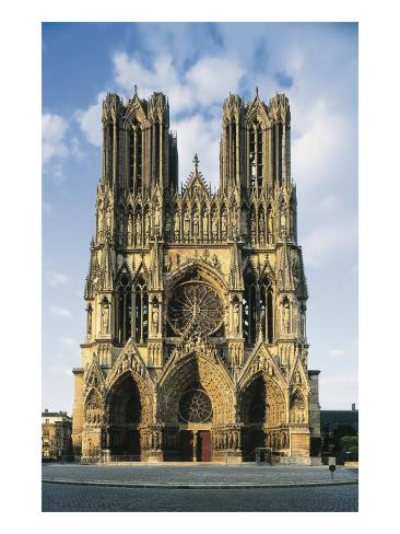 Cathedral of Notre-Dame of Reims Art Print