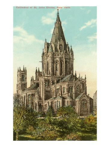 Cathedral of St. John the Divine, New York City Art Print