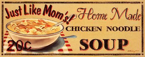 Chicken Noodle Soup Art Print