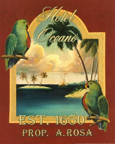 Hotel Oceano Art Print