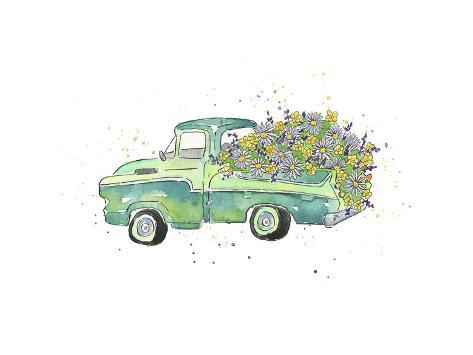 Flower Truck II Stampa artistica
