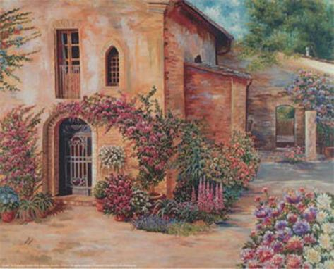 Garden Corner Art Print