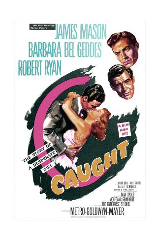 Caught, US poster, James Mason, Robert Ryan, Barbara Bel Geddes, 1949 Impressão artística