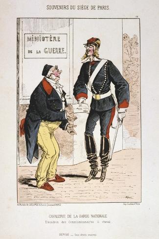 Cavalerie De La Garde Nationale, Siege of Paris, 1870-1871 Giclee Print